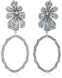 Lulu Frost | Camellia Statement Gold And Silver-plated Brass Earrings | Lyst