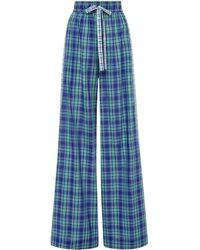 Prabal Gurung Cotton Pajama Pant - Blue