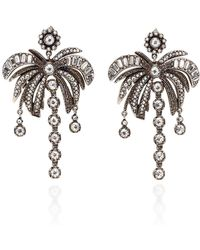 N°21 Palm Tree Earrings - Metallic