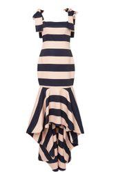 Leal Daccarett Sueño Stripe Crepe Dress - Blue