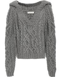 Nellie Partow - Elia Cable Hand Knit Hoodie - Lyst