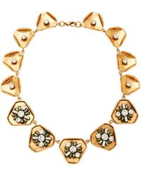 Nicole Romano - Gold-plated Swarovski Crystal Necklace - Lyst