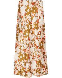 Lee Mathews Bella Floral-print Silk-satin Slip Skirt - Multicolour
