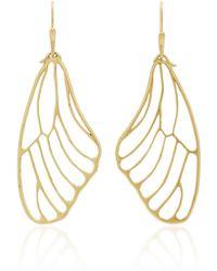 Annette Ferdinandsen - 18k Gold Butterfly Wing Earrings - Lyst
