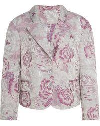 Anna Sui - Peonies Jacquard Jacket - Lyst