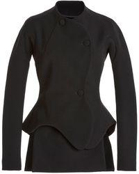 A.W.A.K.E. MODE Asymmetric Stretch-cady Blazer - Black