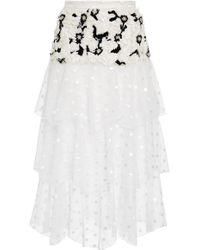 Rodarte - Exclusive Embellished Tiered Tulle Maxi Skirt - Lyst