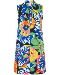 MSGM   Sixties Mico Flower Pleated Cotton   Lyst