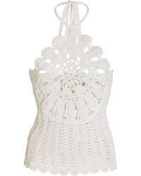 Alexis Venesia Crochet-knit Top - White