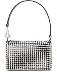 Alexander Wang Wangloc Crystal-embellished Mini Top Handle Bag - White