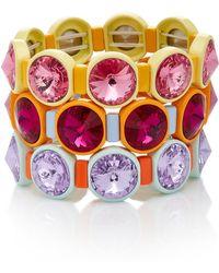 Roxanne Assoulin - Set Of Three Technicolor Crystal Bracelets - Lyst