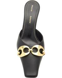 Proenza Schouler Leather Embellished Mules - Black