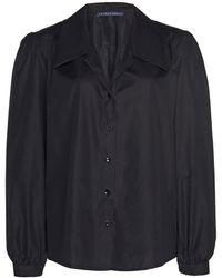 Zeynep Arcay Cotton Button Down Shirt - Black