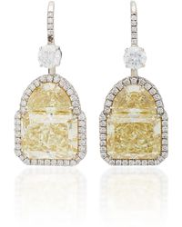 Martin Katz - One-of-a-kind Radiant Diamond Earrings - Lyst