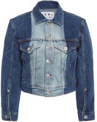 Proenza Schouler Two-tone Denim Jacket - Blue