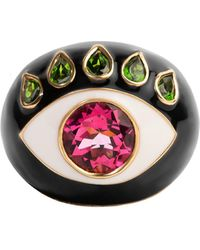Nevernot 18k Gold Ready To See You Ring - Black