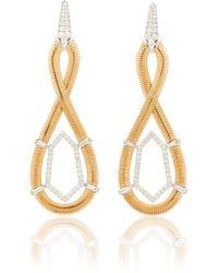 Nikos Koulis Feelings Figure Eight Earrings - Metallic