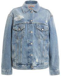 Acne Studios 2000 Oversized Distressed Denim Jacket - Blue