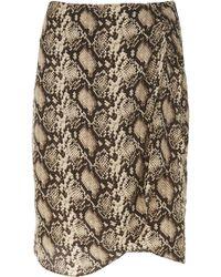 Nili Lotan - Hazel Printed Silk Mini Wrap Skirt - Lyst
