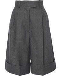 Miu Miu Cuffed Knee-length Shorts - Gray
