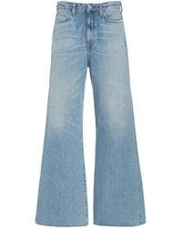 Citizens of Humanity Rosanna Rigid Mid-rise Wide-leg Jeans - Blue