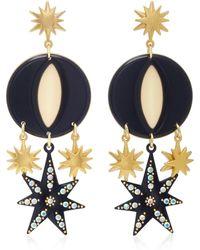 Lulu Frost | Orana Gold-plated, Enamel And Crystal Earrings | Lyst