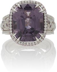 Martin Katz - One-of-a-kind Cushion Purple Spinel Ring - Lyst