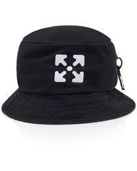 Off-White c/o Virgil Abloh Logo Bucket Hat In Black