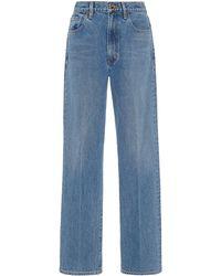 Goldsign Tate Rigid Mid-rise Straight-leg Jeans - Blue