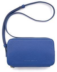 STUDIO AMELIA Mini Cube Leather Shoulder Bag - Blue