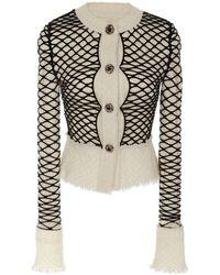 Alexander Wang Embellished Tweed Jacket - White