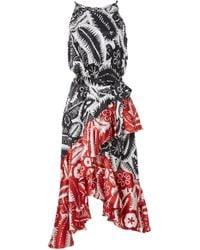 DELFI Collective - Blaire Contrast Print Midi Dress - Lyst