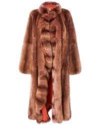 J. Mendel Sable Fur Coat - Brown