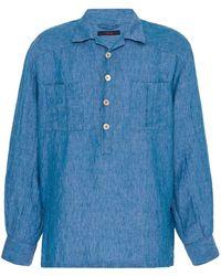 The Gigi Denim Button-front Shirt - Blue
