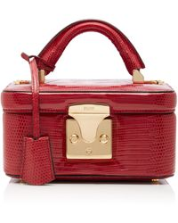 Stalvey Exclusive Lizard Beauty Case - Red