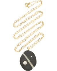 CVC Stones - Broadway 18k Gold, Diamond, And Beach Stone Necklace - Lyst