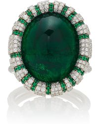 Martin Katz - One-of-a-kind Oval Emerald Ring - Lyst