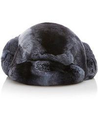 Albertus Swanepoel Rex Fur Hat - Blue