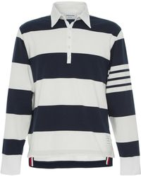 Thom Browne - Oversized Cotton Rugby Polo - Lyst