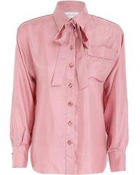Zimmermann Concert Pajama Silk Shirt - Pink