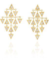 Amrapali Kundan Vintage 18k Yellow Gold Diamond Earrings - Metallic