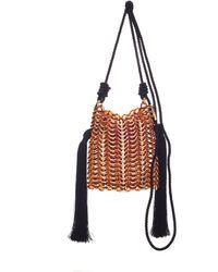 Carolina Santo Domingo - Luisella Tassled Resin Shoulder Bag - Lyst