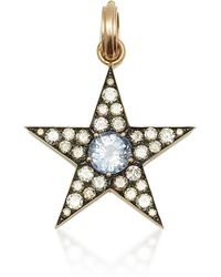 Sylva & Cie - Ceylon Sapphire & Diamond Star Pendant - Lyst