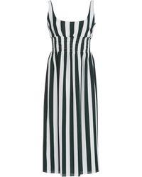 Emilia Wickstead Giovanna Striped Stretch-crepe Midi Dress - Green