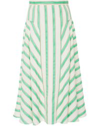 Delpozo - Flared Fitted Waist Skirt - Lyst