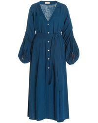 Hannah Artwear Jasmine Cotton Maxi - Blue