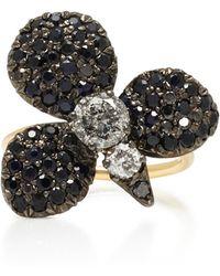 Montse Esteve - Oxidized Silver, 18k Gold And Diamond Ring - Lyst