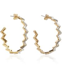Lulu Frost Adore Gold-plated And Crystal Hoop Earrings - Metallic