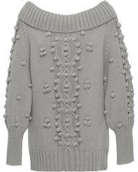 Marissa Webb Camden Shawl Collar Pullover - Gray