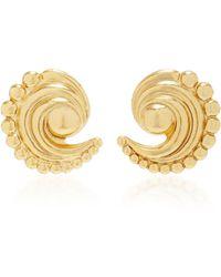 Nicole Romano | 18k Gold-plated Swirled Crescent Metal Earrings | Lyst